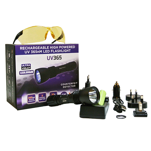PRO UV lamp toch for inspection kit with charger and glasses
